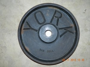 York 45lb plate from the 30's